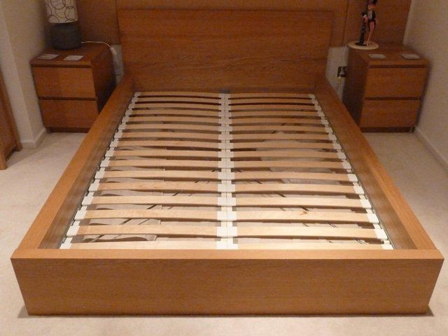 ikea malm double bed in oak finish and ikea double mattress for sale frame in - Bed Frame Cost
