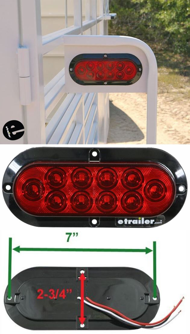 Optronics Led Trailer Tail Light Stop Turn Tail Submersible