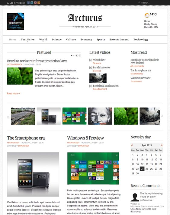 15 best 15 of the Best Joomla News Templates images on Pinterest ...