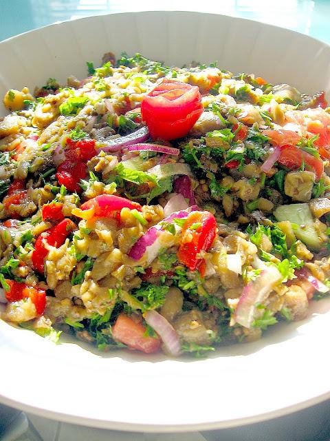 My Turkish Kitchen: PATLICAN SALATASI