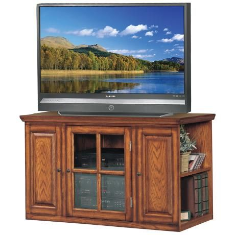 """Burnished Oak 42"""" Wide Television Console -"""