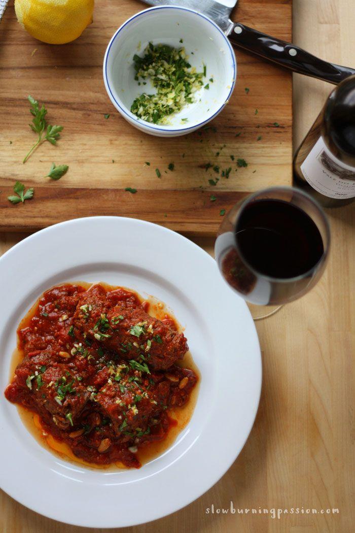 Italian Beef Braciole is so Good It'll Make You Cry- has raisins like in everybody loves Raymond.
