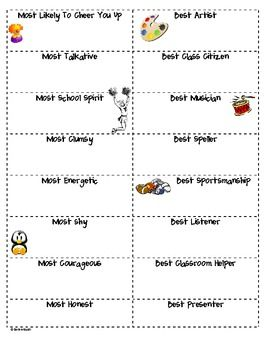 End of the School Year Election Voting Sheet for k-5!! Awesome activity for kids :)