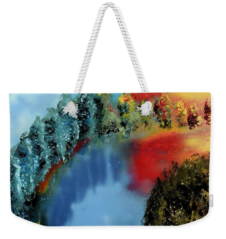 River Of Colors Weekender Tote Bag Printed with Fine Art spray painting image River Of Colors Nandor Molnar (When you visit the Shop, change the size, background color and image size as you wish)