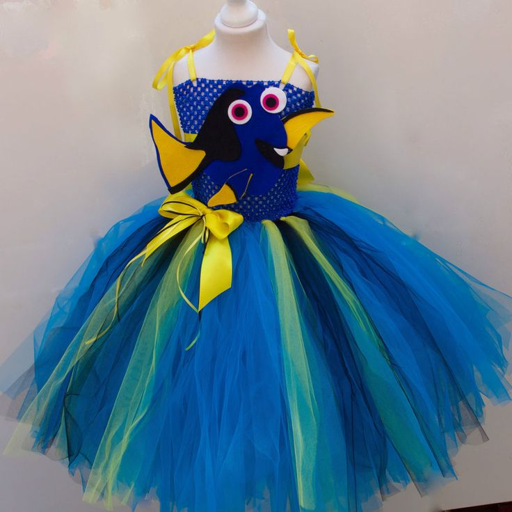 Disney Finding Dory inspired Tutu Dress Age's 3 up to Age 12 in Clothes, Shoes & Accessories, Fancy Dress & Period Costume, Fancy Dress | eBay