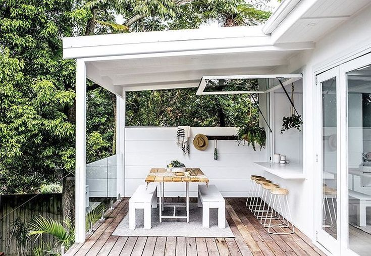 """2,398 Likes, 69 Comments - THREE BIRDS RENOVATIONS (@threebirdsrenovations) on Instagram: """"Want to create a outdoor room... Easy Peasy! Frame up a wall ( or in our case get your builder to…"""""""