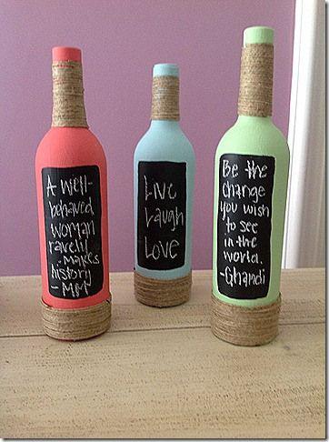 chalk wine bottles    http://wineryweddings.wordpress.com/tag/chalk-board-wine-bottle-centerpieces/
