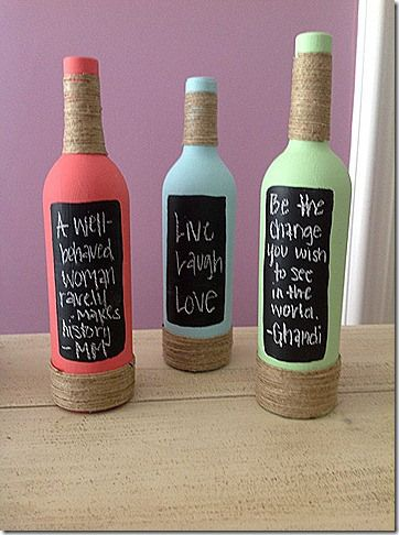chalk wine bottles    http://wineryweddings.wordpress.com/tag/chalk-board-wine-bottle-centerpieces/