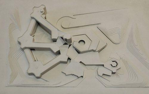 Max-Planck-Institut für Bildungsforschung, Modell des ausgeführten Entwurfs, Foto: Matthias Seidel 2009