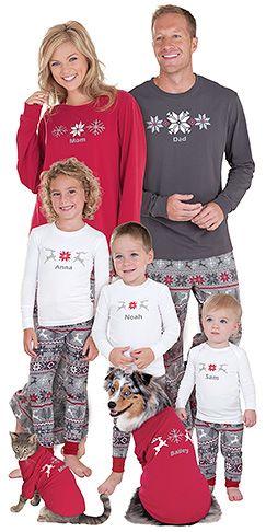 Pijamas para o Natal.