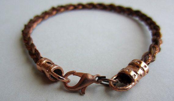 Handgemachte Runde geflochten Pferd Haar Armband mit von scequine
