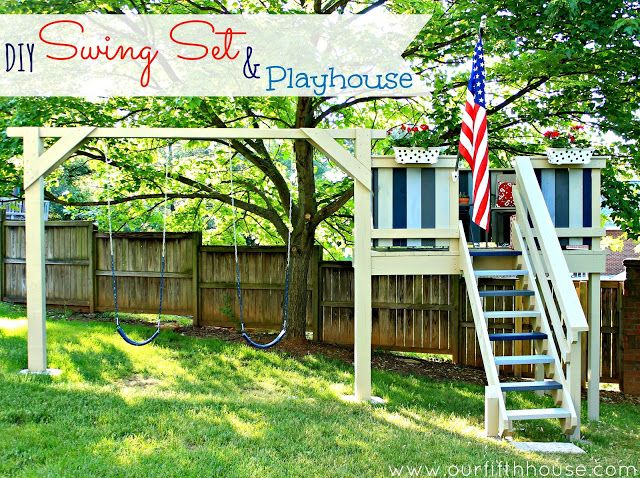 21 best images about swing set fort on pinterest diy for How to build a swing set for adults