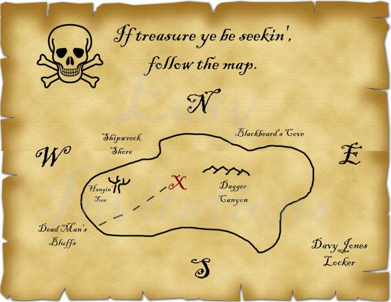 The 25 Best Pirate Treasure Maps Ideas On Pinterest