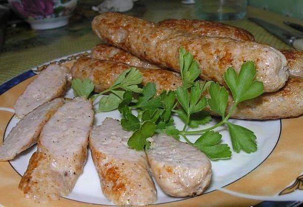 Домашние куриные колбаски - очень вкусно!