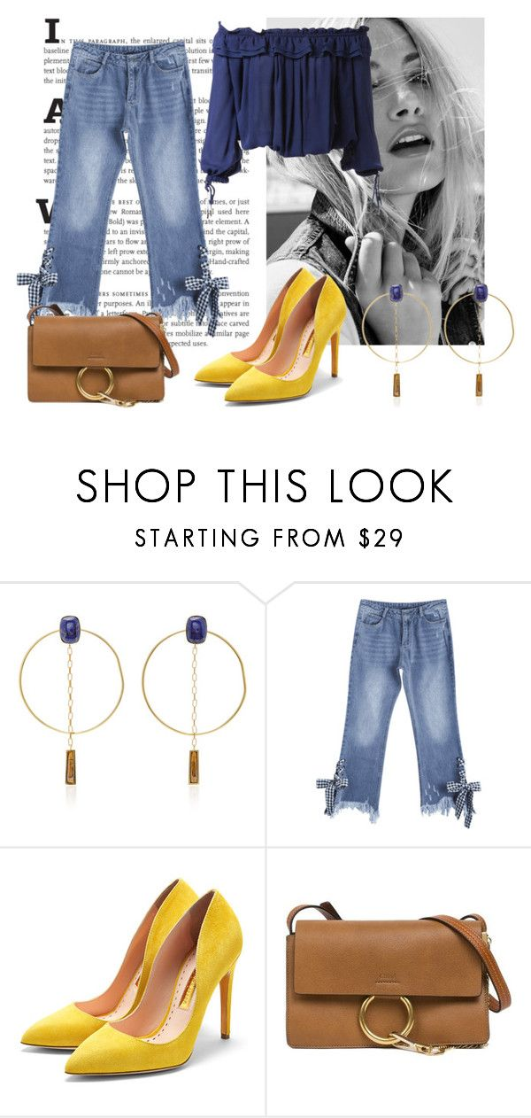 """""""No Comment"""" by dvorska-michaela on Polyvore featuring Isabel Marant, Rupert Sanderson, Chloé, Dsquared2, Blue, jeans and FreeMind"""