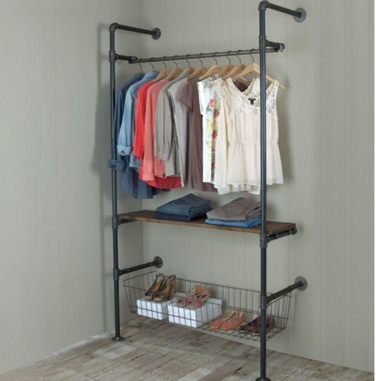 neu schrank rohre diy clothes rack rustic closet clothing rack