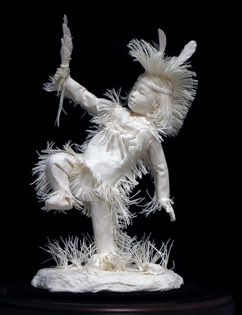 Paper art of Native American indians made by Allen and Patty Eckman..  Beautiful work !