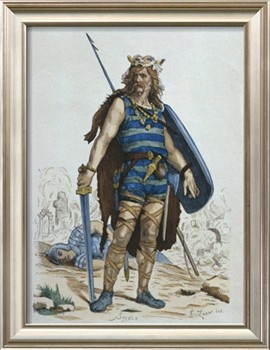 Frankish Warrior in 5th Century, Illustration from 'Costumes de Paris a travers les siecles' by H. Giclee Print by Francois Edouard Zier at Art.com