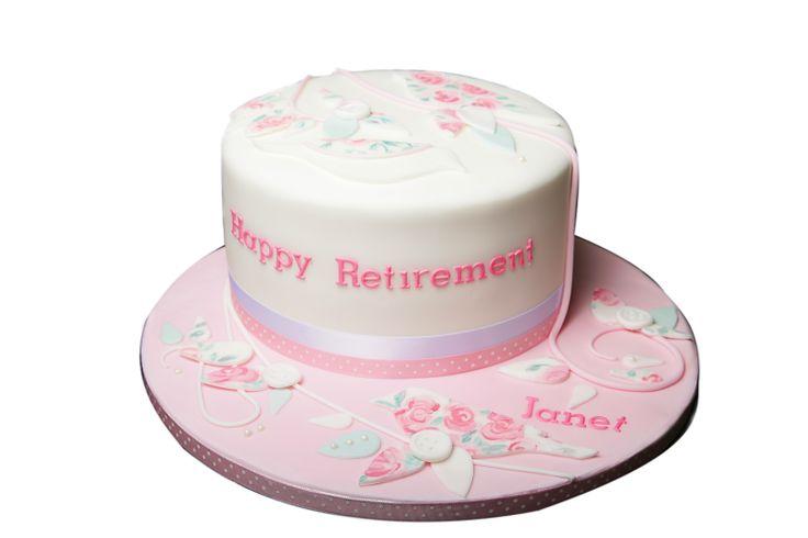 Chocolate Strawberry bespoke retirement cake.