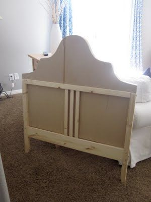 Upholstered Bed | All Things Campbell               starts with an inexpensive Ikea bed/ step by step directions