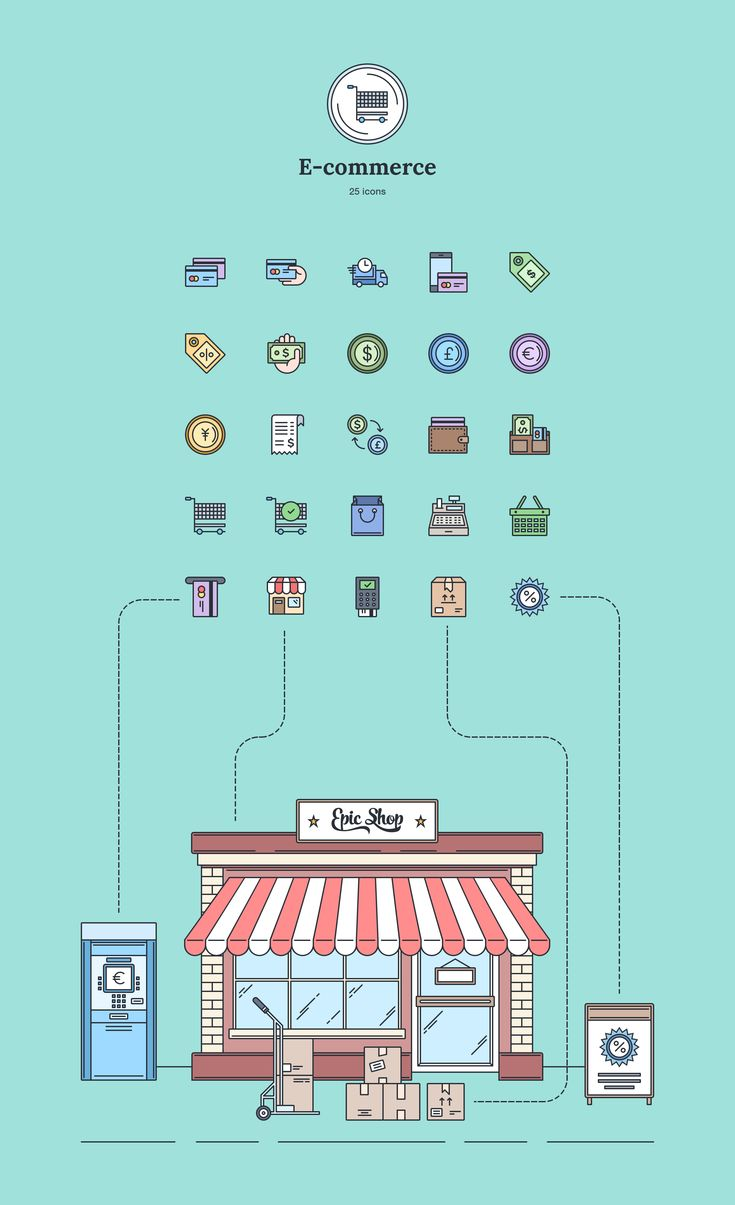 E-commerce - Landing Page Icons - Designmodo Market