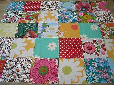 COTTON VINTAGE/NEW RETRO SQUARES PATCHWORK/CRAFT