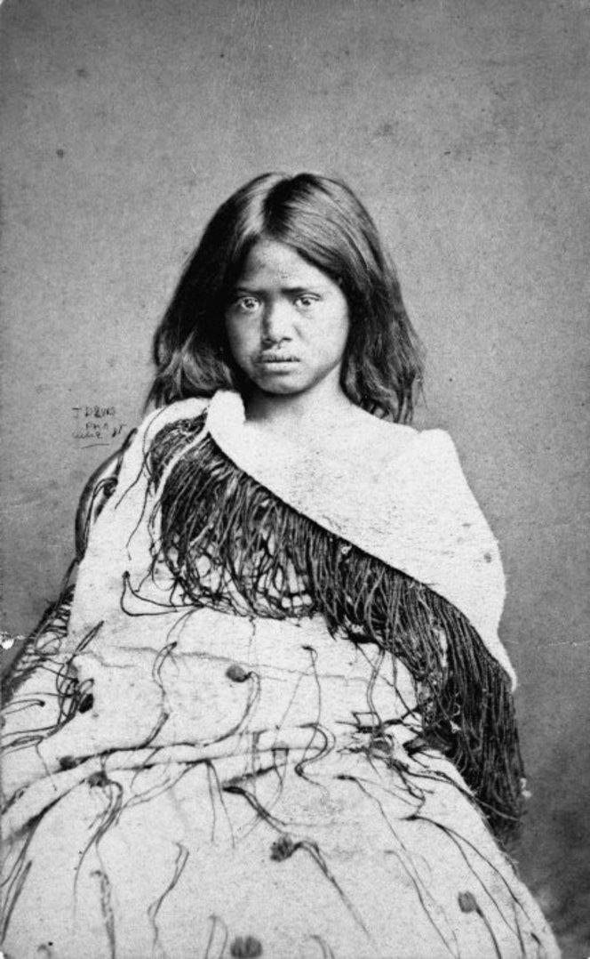 Portrait of a Maori girl from the Ihaka family