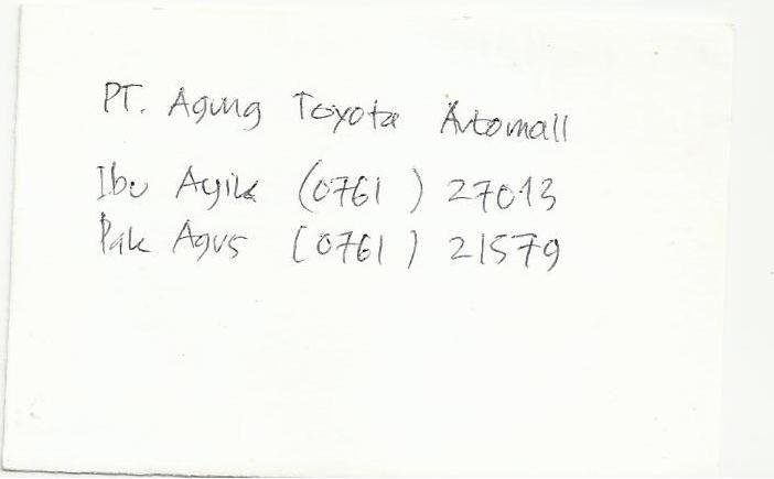 PT. Agung Toyota Automall - Ibu Ayik