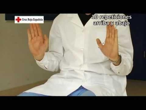 Gimnasia para personas mayores. Ejercicio 4: ejercicios con las manos.