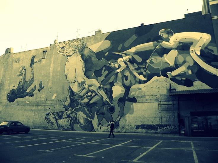 street art, kosciuszki street, lodz, poland