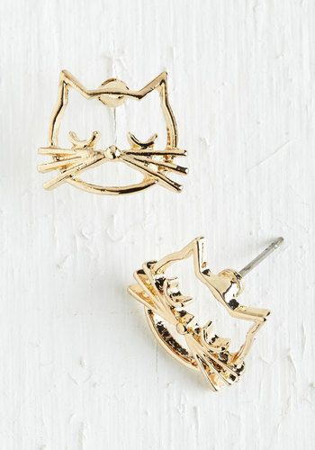 Came as a Cat Earrings #cat #earrings #jewelry
