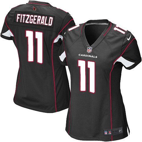 Womens Nike Arizona Cardinals #11 Larry Fitzgerald Elite Black Alternate Jersey$109.99