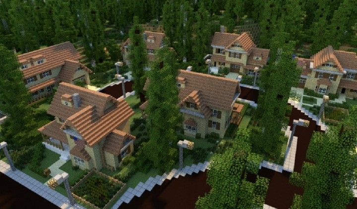 GREENVILLE idyllic village for download Map Schematics minecraft building ideas blueprints 2
