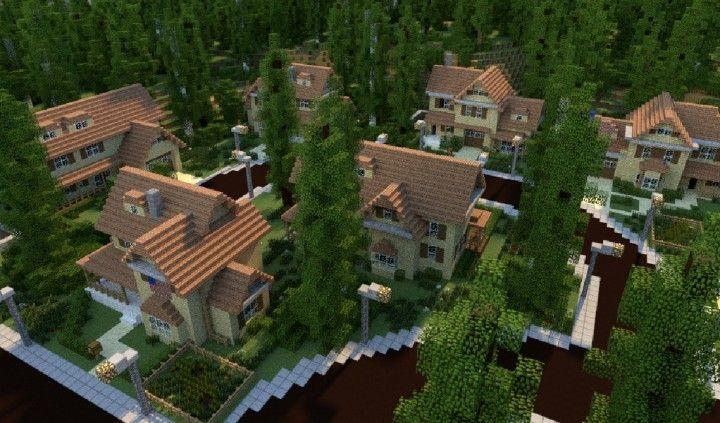 GREENVILLE idyllic village for download Map Schematics minecraft building ideas blueprints 2