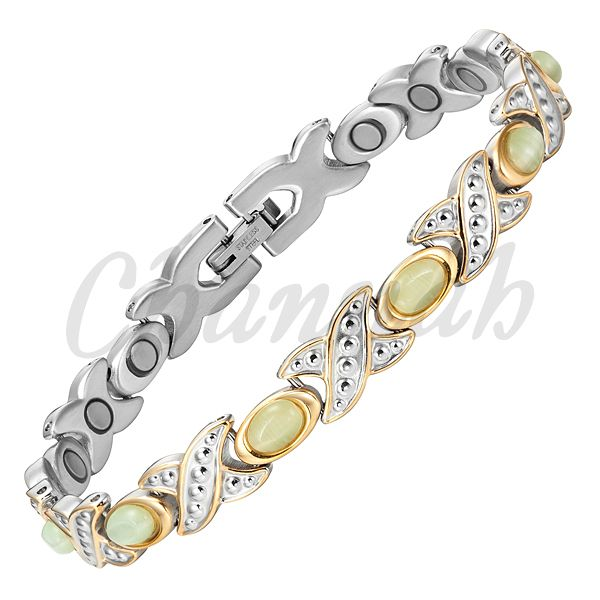 Find More Chain & Link Bracelets Information about MBS055T: 2016 Ladies 19pcs Magnets Silver 18K Gold Stainless Steel Women Bracelet Stones Jewelry Bangle Free Shipping,High Quality jewelry ultrasonic,China bracelet big Suppliers, Cheap jewelry box bracelet from Channah Store on Aliexpress.com