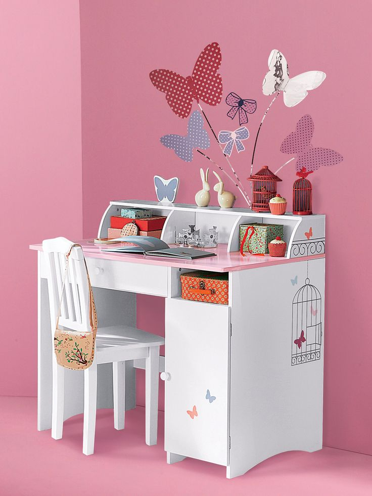 bureau enfant papillon. Black Bedroom Furniture Sets. Home Design Ideas