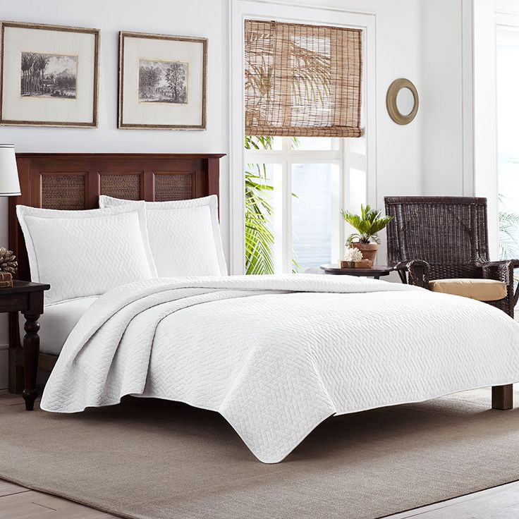 Tommy bahama solid white quilt set sarasota house pinterest products beds and tommy bahama - Tommy bahama bedroom decorating ideas ...