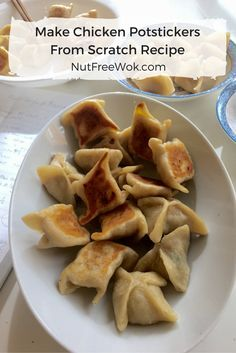 You can make these Chicken Potstickers at home even if you can't buy potsticker wrappers at a store because this recipe contains instructions to make the wrapper from scratch.