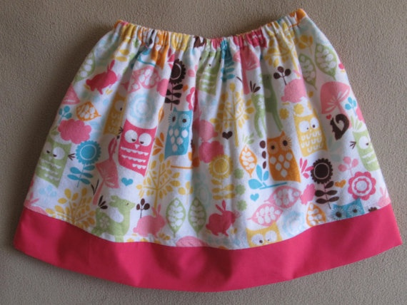 easy sew skirt -- I think I could make something like this for Princess.