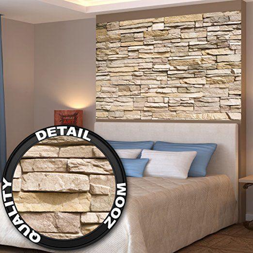 Fabulous Poster Noble Stone Wall Wandbild Dekoration moderne Wandverkleidung Steinoptik Schiefergestein Mauer Sandstein Naturstein Wandposter Fotoposter