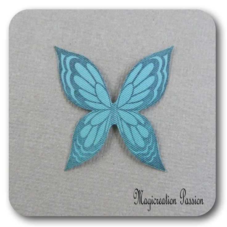 ailes de papillon 3.5 cm soie turquoise -Ysatis : Décoration d'intérieur par les-tiroirs-de-magicreation-passion