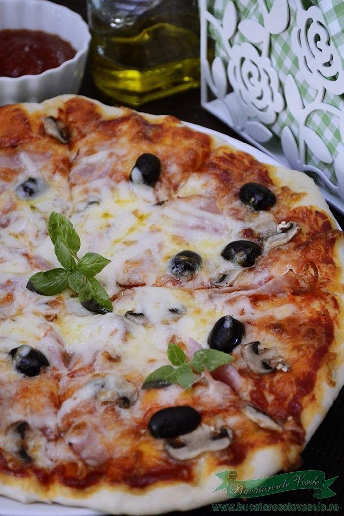 Pizza Capriciosa.Cum se face pizza capriciosa.Pizza de casa cu mozzarella…