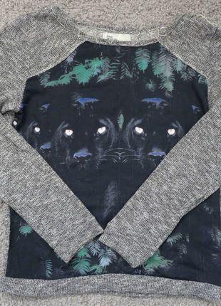 Kup mój przedmiot na #vintedpl http://www.vinted.pl/damska-odziez/swetry-z-dzianiny/17837925-bershka-rockowy-sweterek-z-motywem-pantery-rozm-38
