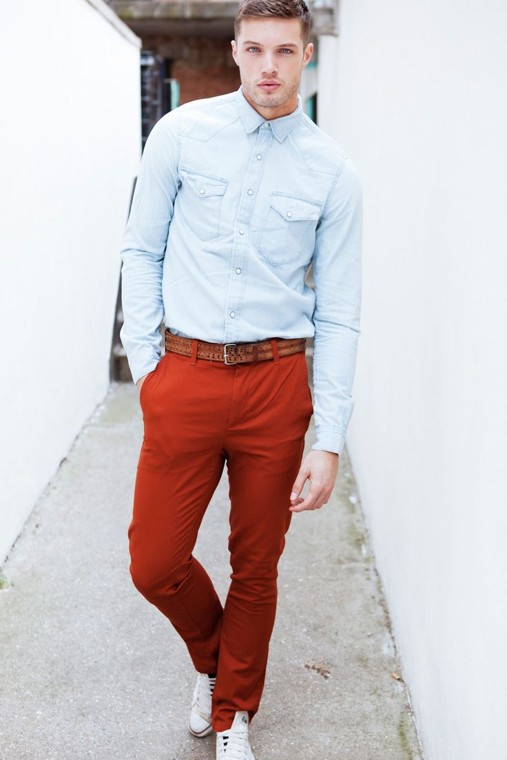 1000  images about Men's Trend | Red Pants on Pinterest
