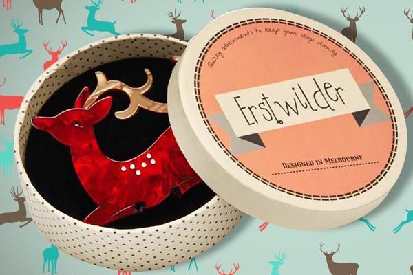 Christmas Gift With Purhcase - Erstwilder Dear Rudolph Brooch