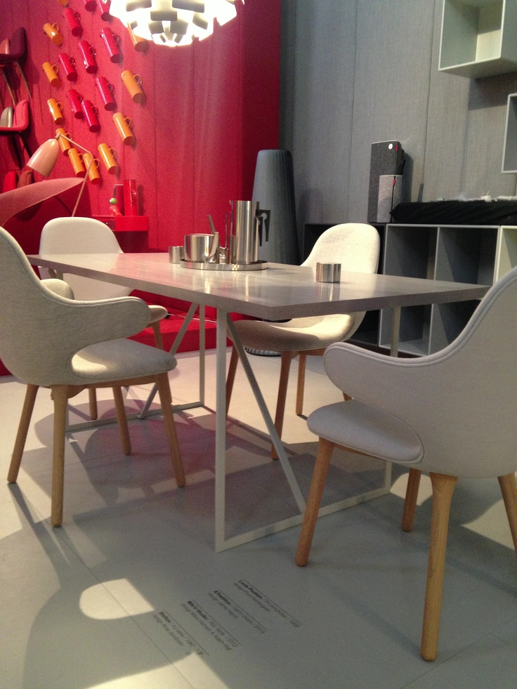 """R.I.G Table in Grey Linoleum performed at  Triennale di Milano 2013 """"Danish Chromatism"""" together with other Top Danish Brands"""