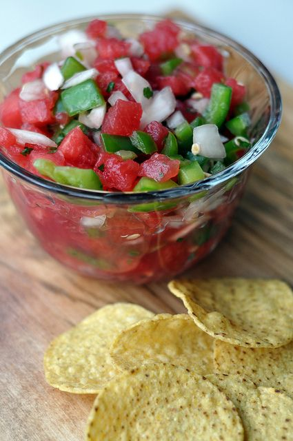 Watermelon salsa   Simona via Simona onto What would you bring to a picnic?