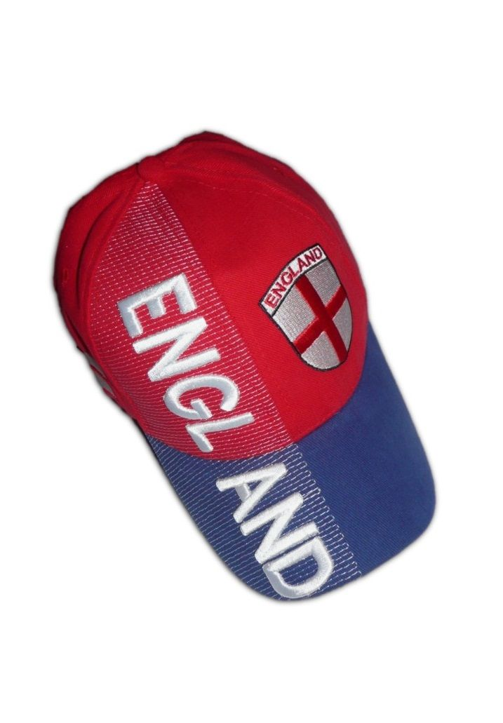 England Soccer Caps National Sport Team Embroidered Crest Baseball ... e4963211923