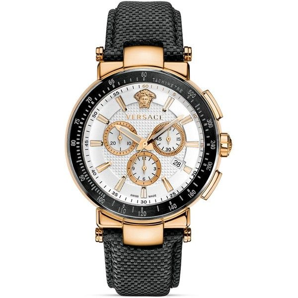 Versace Mystique Sport Chronograph Rose Gold Pvd Round Watch, 43.5mm ($1,995) ❤ liked on Polyvore featuring men's fashion, men's jewelry, men's watches, watches, jewelry, pink, versace mens watches, mens sport watches, mens chronograph watches and mens sports watches
