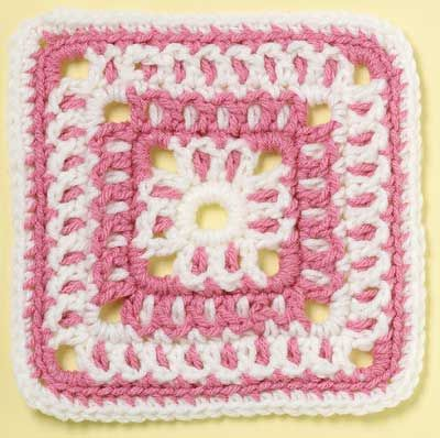 Vintage Lace Square granny square pattern by Margret Willson on Talking Crochet Newsletter
